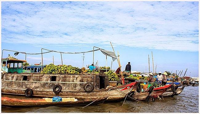 Chợ nổi Long Xuyên ở An Giang