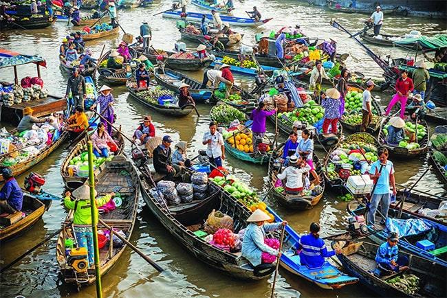 Chợ nổi Phong Điền ở Cần Thơ