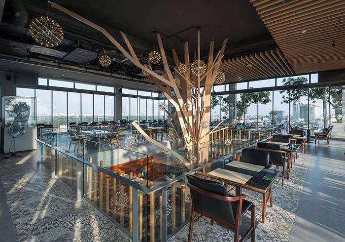 Không gian bên trong 6 Degrees Cafe Nghi Tàm