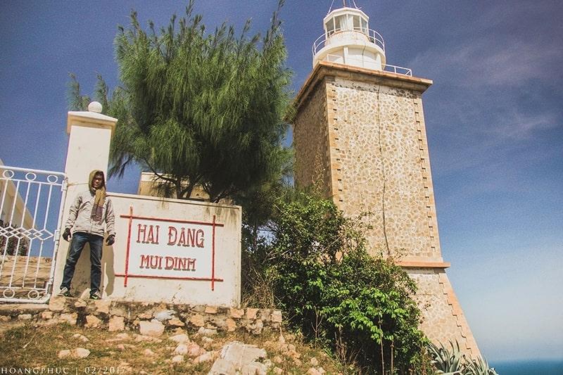 Hải đăng Mũi Dinh gần làng Mông cổ Tanyoli, Ninh Thuận