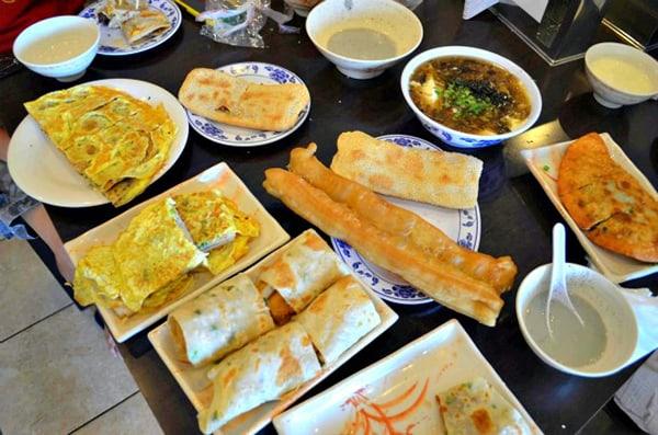 Bữa sáng kiểu Đài Loan truyền thống