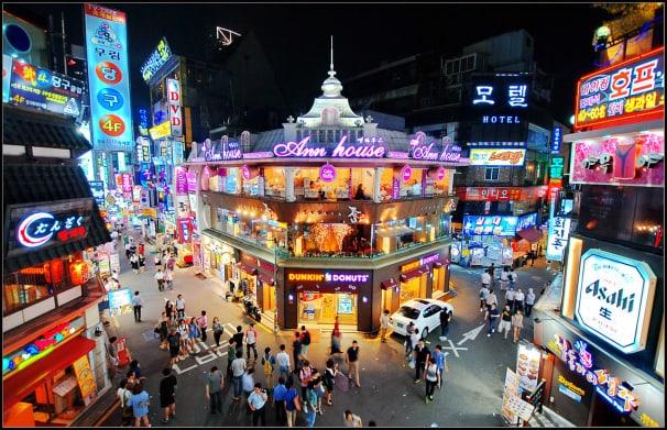 Khu mua sắm ở Hàn Quốc Hongdae