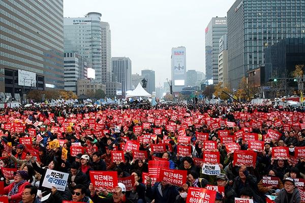 Du lịch Hàn Quốc cần chú ý các hoạt động biểu tình