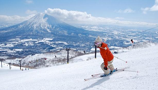 Trượt tuyết ở Hokkaido, Nhật Bản