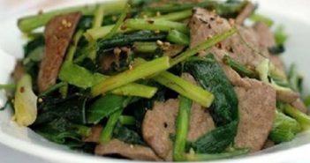 Những món ăn ngon có tác dụng bổ gan