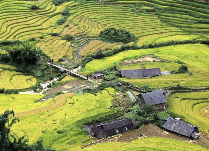 Thung lũng Mường Hoa nhìn từ trên cao