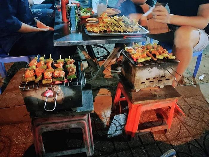 Đồ nướng ở chợ Đêm Đà Lạt