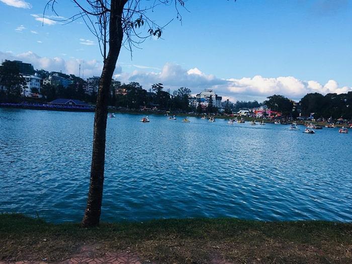 Bên bờ hồ Xuân Hương Đà Lạt