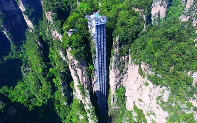 Thang máy khổng lồ ở Vũ Lăng Nguyên