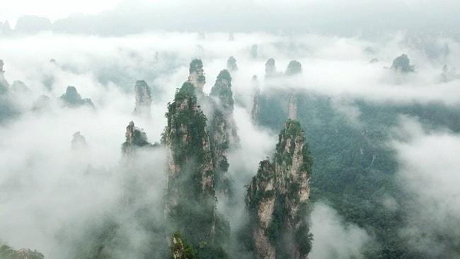 Sương mù là nét đặc trưng ở Vũ Lăng Nguyên