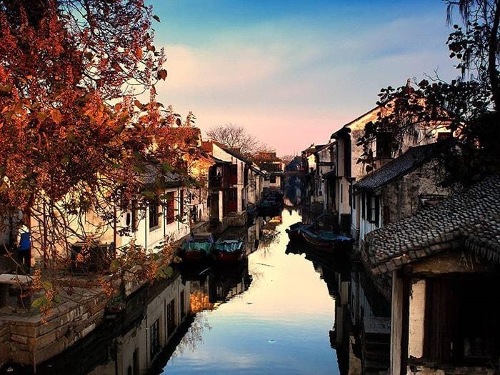 Châu Giang cổ trấn mùa thu