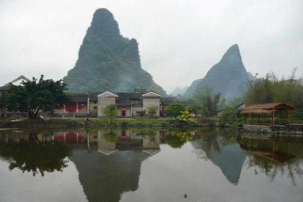 Thành cổ Hoàng Diêu nằm ở vùng hạ du sông Ly Giang