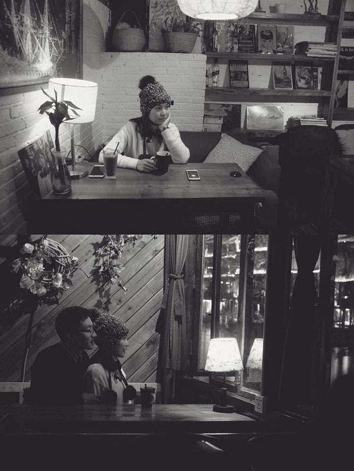 Uống cafe ở Phượng Hoàng cổ trấn