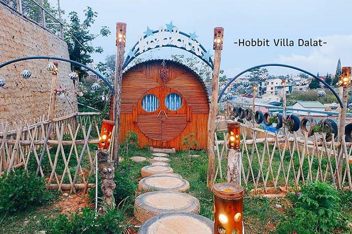 Một khu phòng bên trong Hobbit Villa Đà Lạt