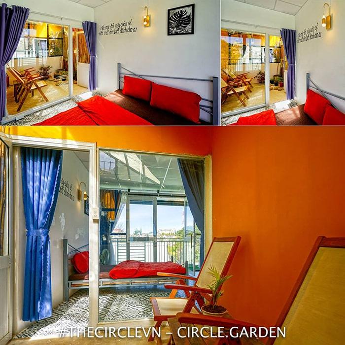 Không gian phòng bên trong The Circle Vietnam Hostel