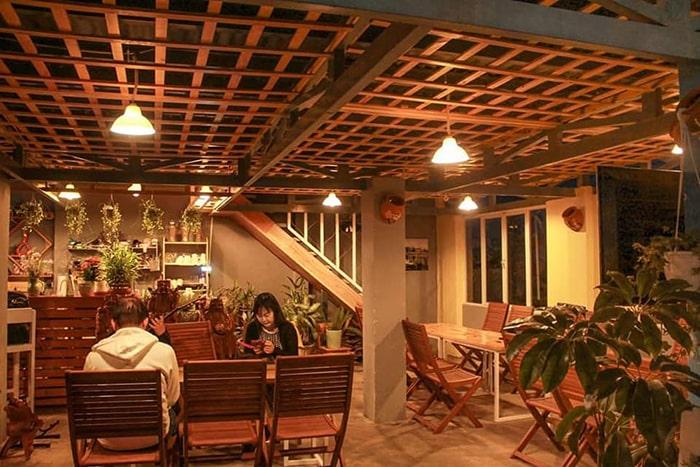 Không gian sinh hoạt ở Windy Hill Coffee & Homestay