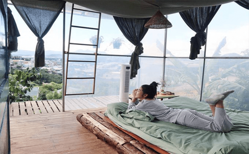 Homestay xa thành phố Đà Lạt thường có view đẹp và yên tĩnh hơn