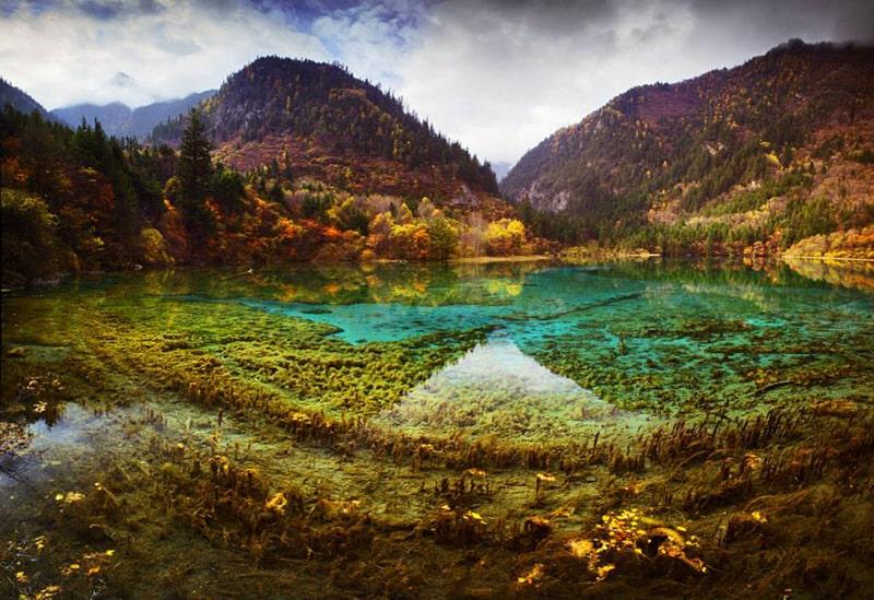 Hồ Ngũ Hoa Hải nằm ở trung tâm của Cửu Trại Câu