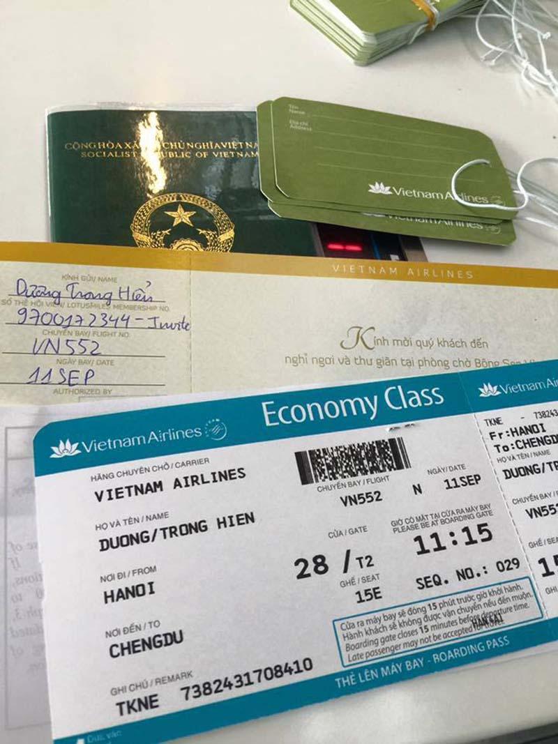 Vé máy bay từ Hà Nội đi Thành Đô