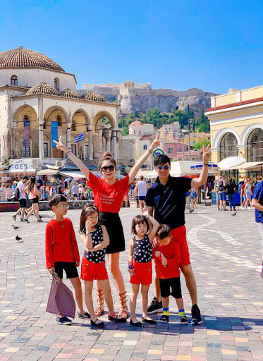 Chuyến đi Hy Lạp của gia đình Lý Hải