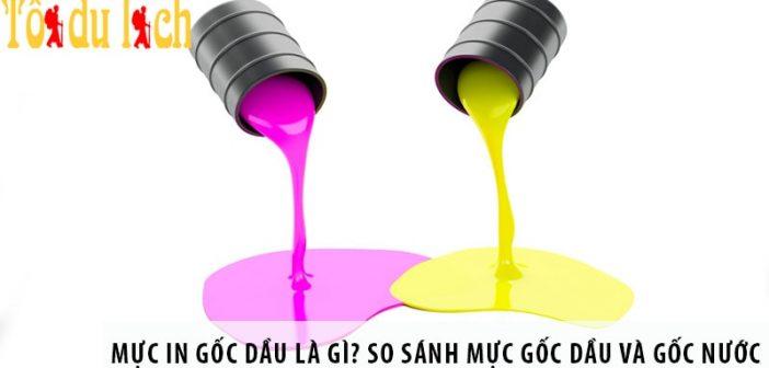 Mực in gốc dầu là gì? So sánh mực gốc dầu và gốc nước