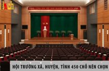 Hội trường xã, huyện, tỉnh 450 chỗ ngồi nên chọn ghế gì? 2