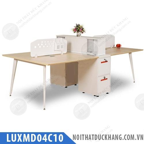 Cụm bàn làm việc 4 chỗ LUXMD04C10