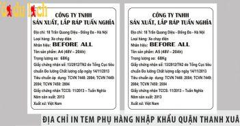 Địa chỉ in tem phụ hàng nhập khẩu quận Thanh Xuân giá rẻ