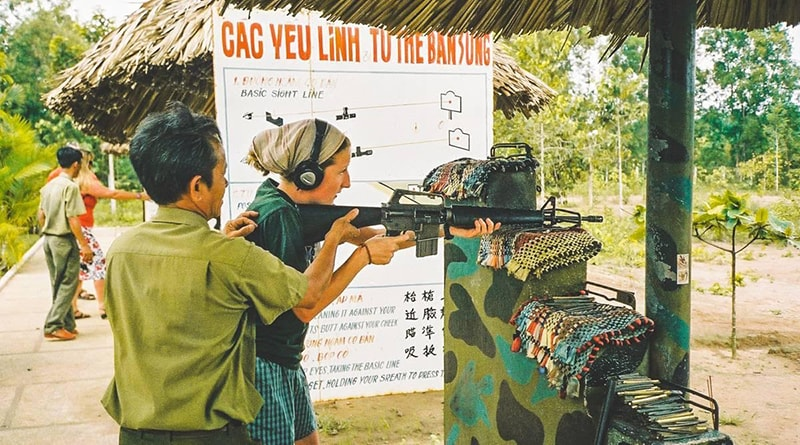 Khu bắn súng ở địa đạo Củ Chi